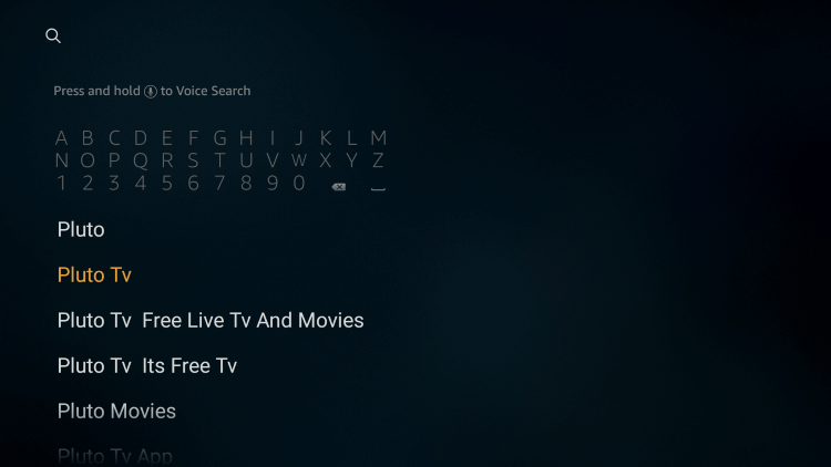 Search for Pluto TV