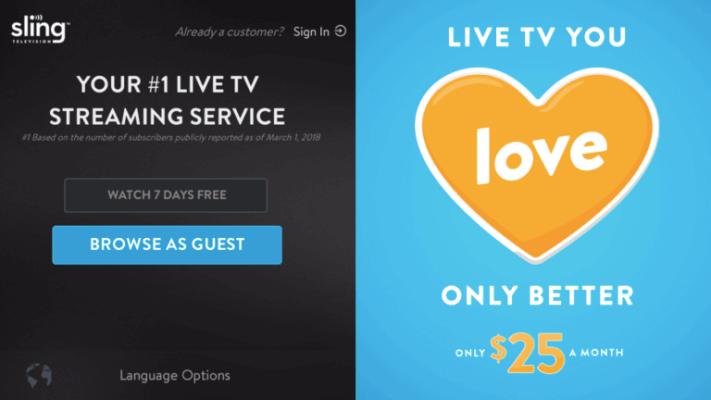 Sign Up - Sling TV on Firestick