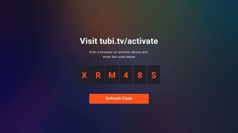 Activation Code - Tubi TV Firestick