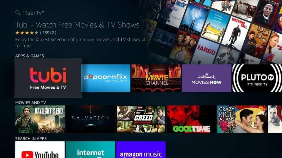 Select Tubi TV