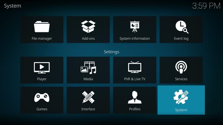 Kodi - System Settings