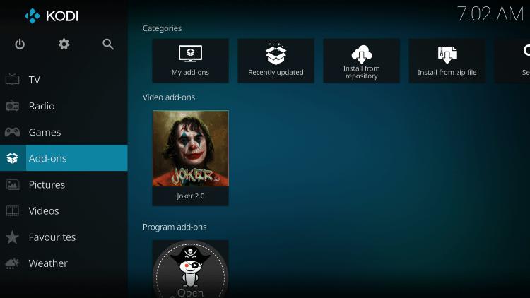 Addons - Joker 2.0 Kodi Addon