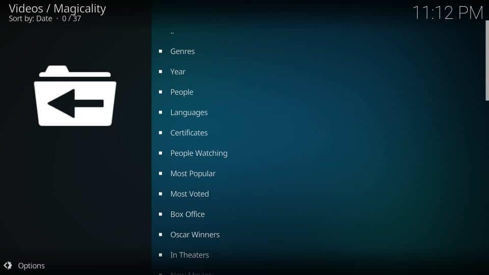 Categories - Magicality Kodi Addon