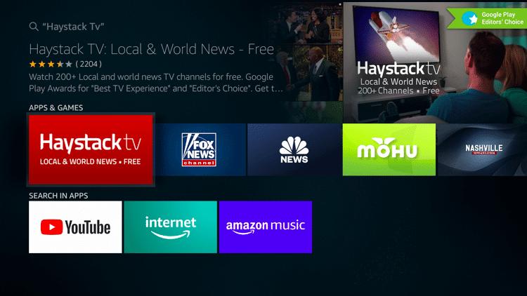 Choose Haystack TV