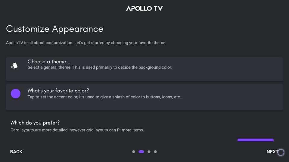 Customization - Apollo TV on Firestick