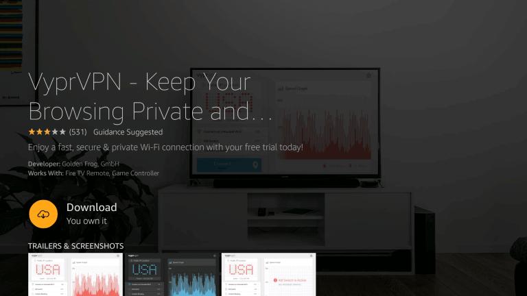 Download VyprVPN on Firestick
