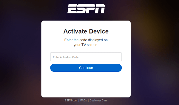 ESPN Activation Code