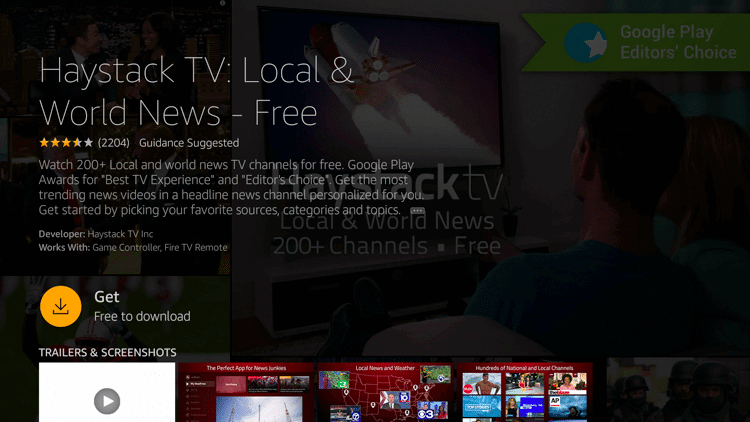 Get Haystack TV on Firestick