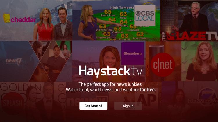 Get Started or Sign in - Haystack TV on Firestick