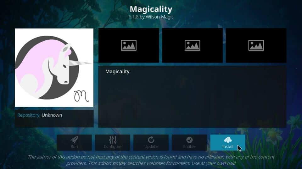 Install - Magicality Kodi Addon