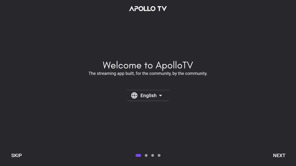 Language - Apollo TV on Firestick