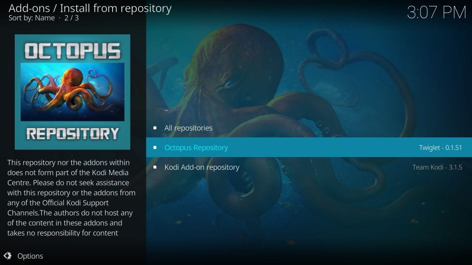Octopus Repository - Alvin on Kodi