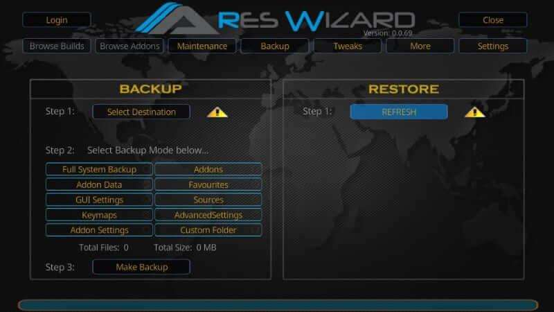 Refresh button - How to Reset Kodi