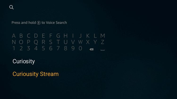 Search CuriousityStream
