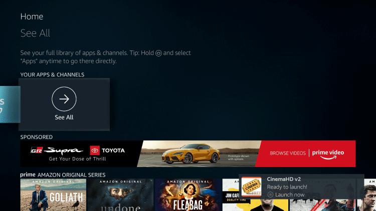 See All - Nova TV Apk on Firestick