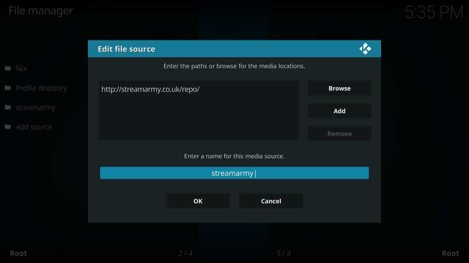 Source Name - Yify Movies HD Addon