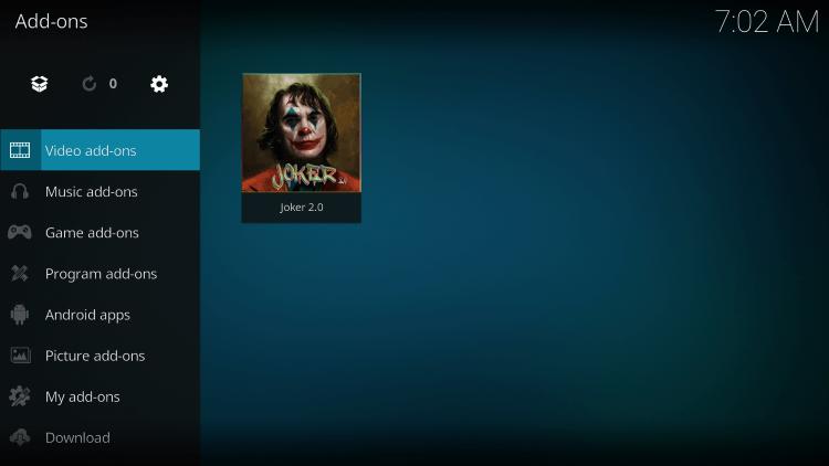 Video Addons - Joker 2.0 Kodi Addon