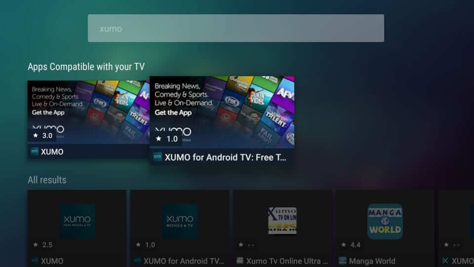 Xumo for Android TV