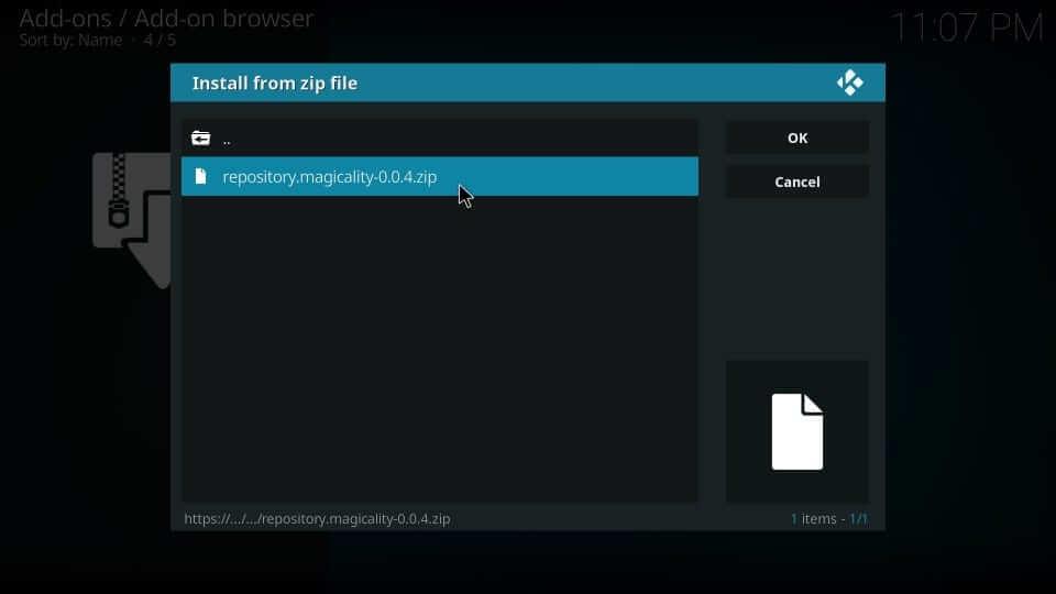 Zip file - Magicality Kodi Addon