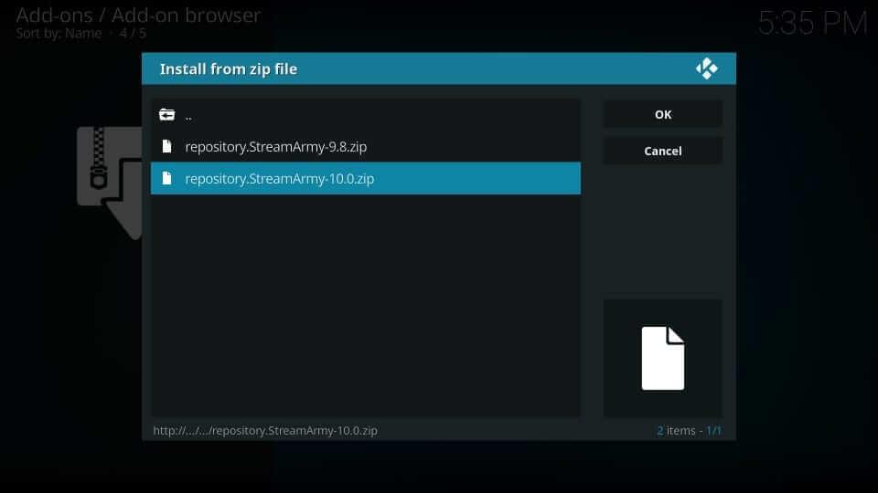 zip file - Yify Movies HD Addon