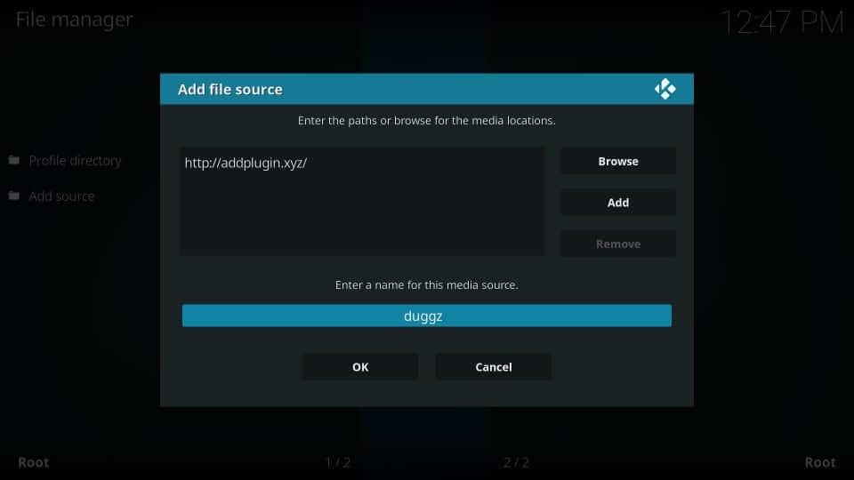 Source Name - Duggz Kodi Build