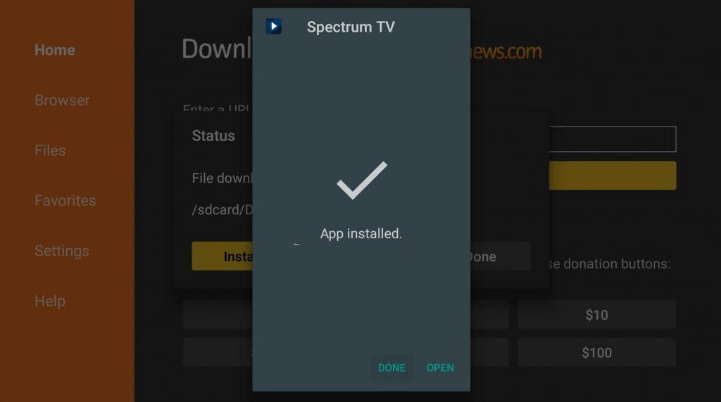 Open - Spectrum TV on Firestick