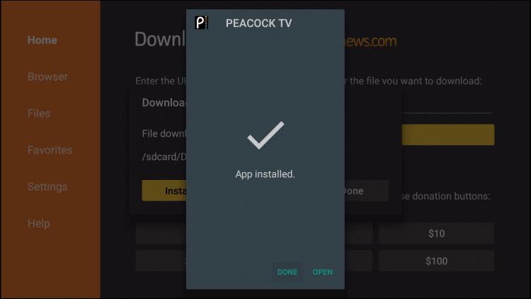Open - Peacock TV on Firestick