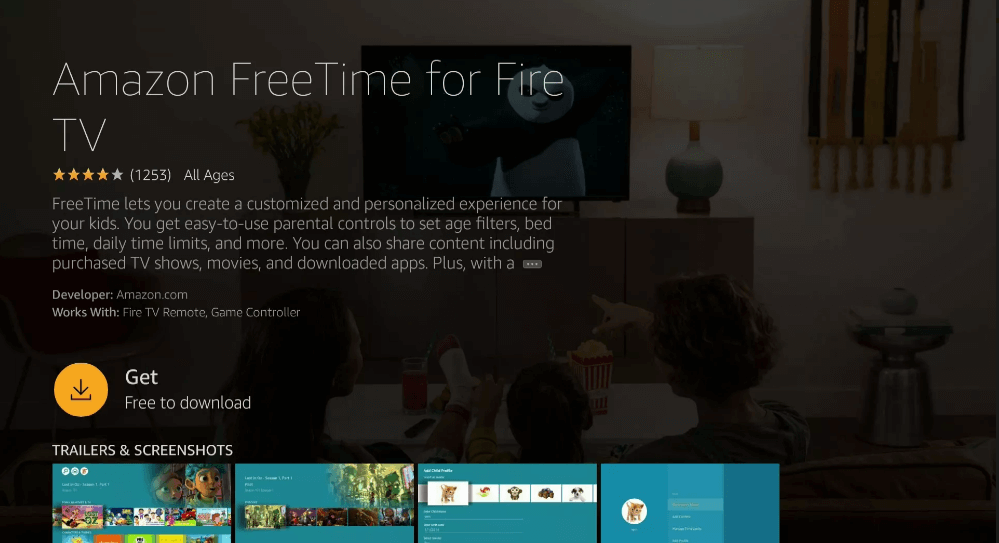 Download FreeTime - Parental Controls on Firestick