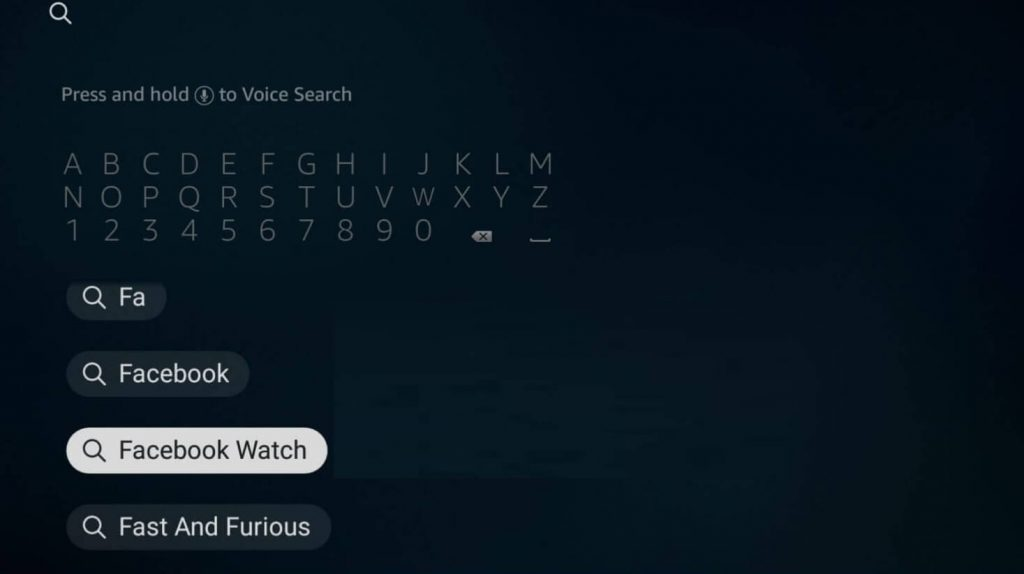Search for Facebook Watch