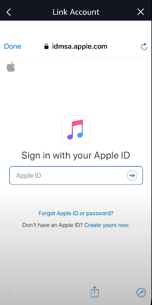 login with your Apple ID to listen Apple Music on Firestick