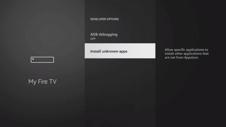 Enable Install Unknown Sources for Firestick