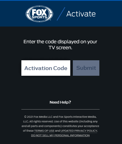 Activate Fox Sports on Firestick