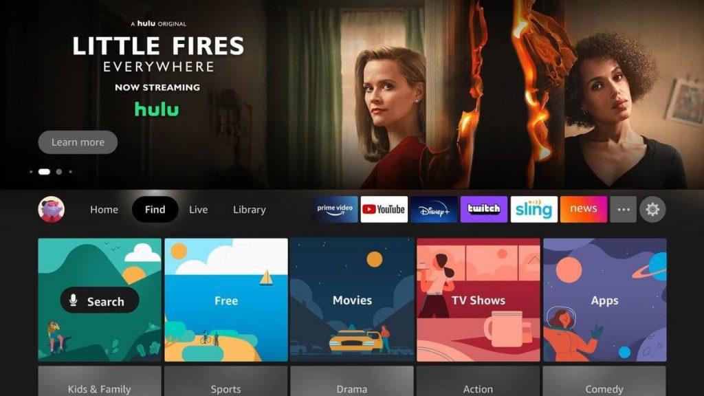 Firestick Home Screen