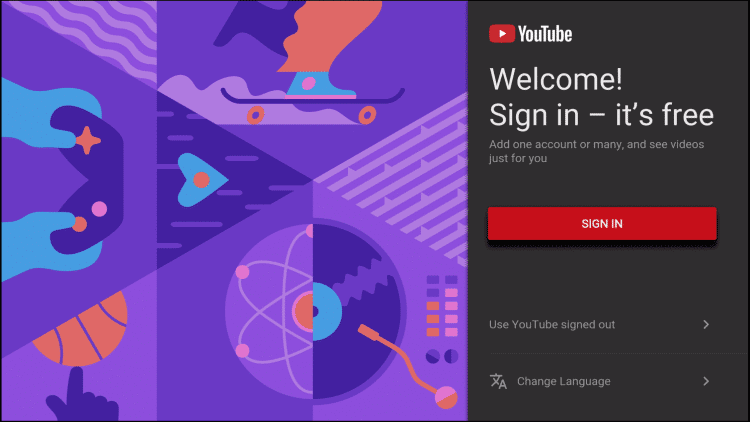 Sign in to YouTube