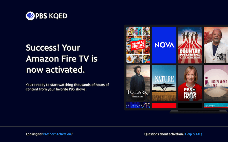 Activate PBS on Firestick