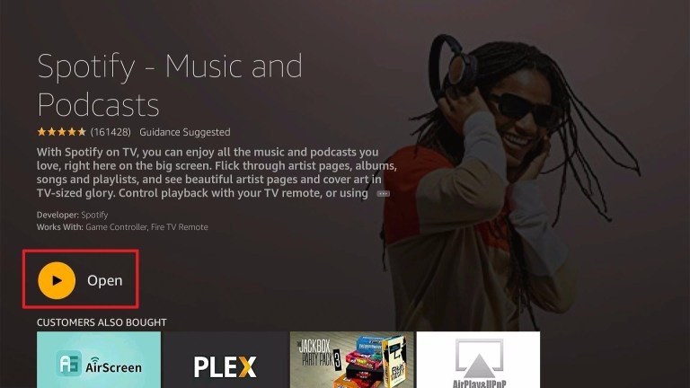 click on Open to launch Spotify app
