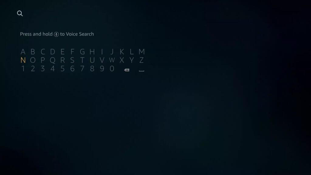 search for Pandora app on Firestick